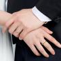 【新品】CIRCLE珠宝Bee系列18K金心切男女对戒个性戒指