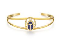 CIRCLE/缘点21年Blue-Scarabe系列银镀金圣甲虫青金石手镯