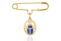 CIRCLE/缘点21年Blue-Scarabe系列银镀金圣甲虫青金石胸针