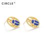 CIRCLE/缘点21年Blue-Scarabe系列银镀金圣甲虫青金石耳环