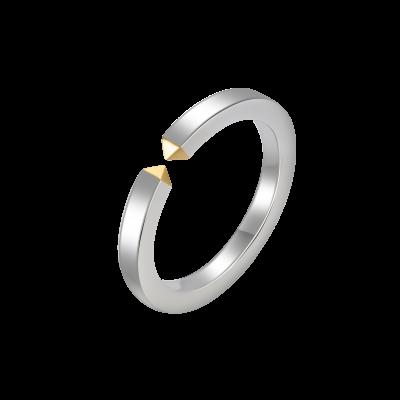 Fashion Lover Collection 18K白黄金连接钻石对戒-男款 6699