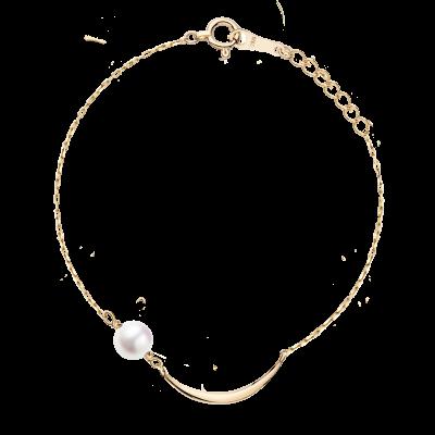 Lune Collection 10K黄金 月亮珍珠手链 2399