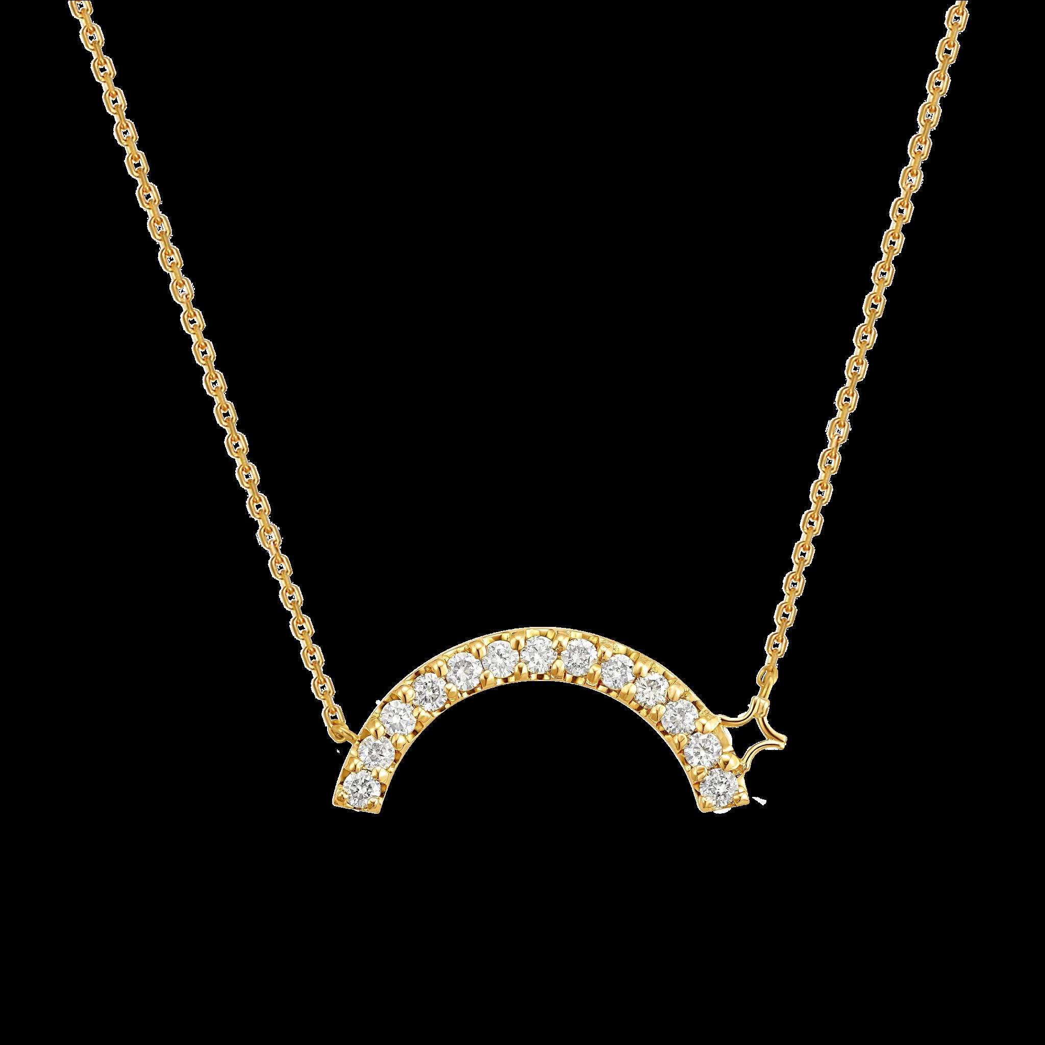 Beyond the Arc Collection 18K黄金 钻石项链-女神版 6399