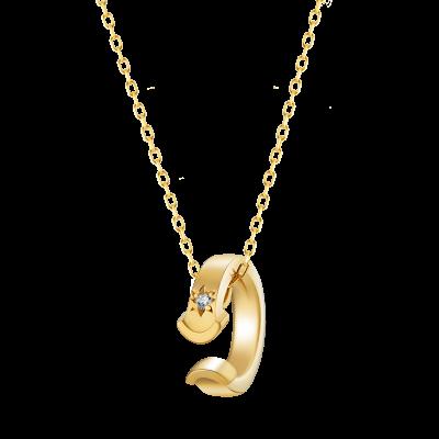 KIZUNA Collection 18K黄金钻石项链 5199