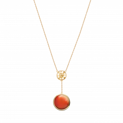 Soiree Collection 18K黄金 玛瑙项链 6399
