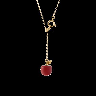 Coral Fruit Collection 10K黄金项链-Apple 2999