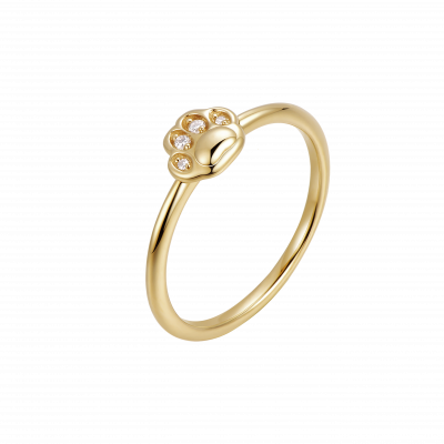 Ms. Cat Collection C 18K黄金 钻石猫爪戒指 5199