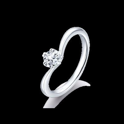 SAKURA Collection PT900 单头樱花切钻石戒指 (仅戒托) 4999