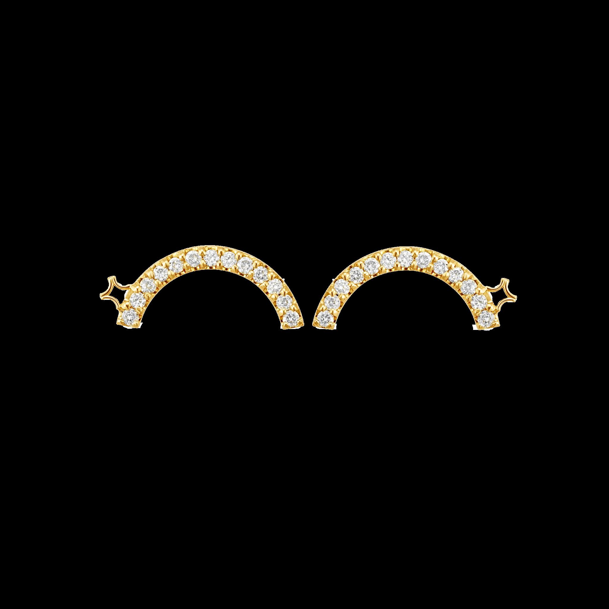 Beyond the Arc Collection 18K黄金 钻石耳环-大号 7999