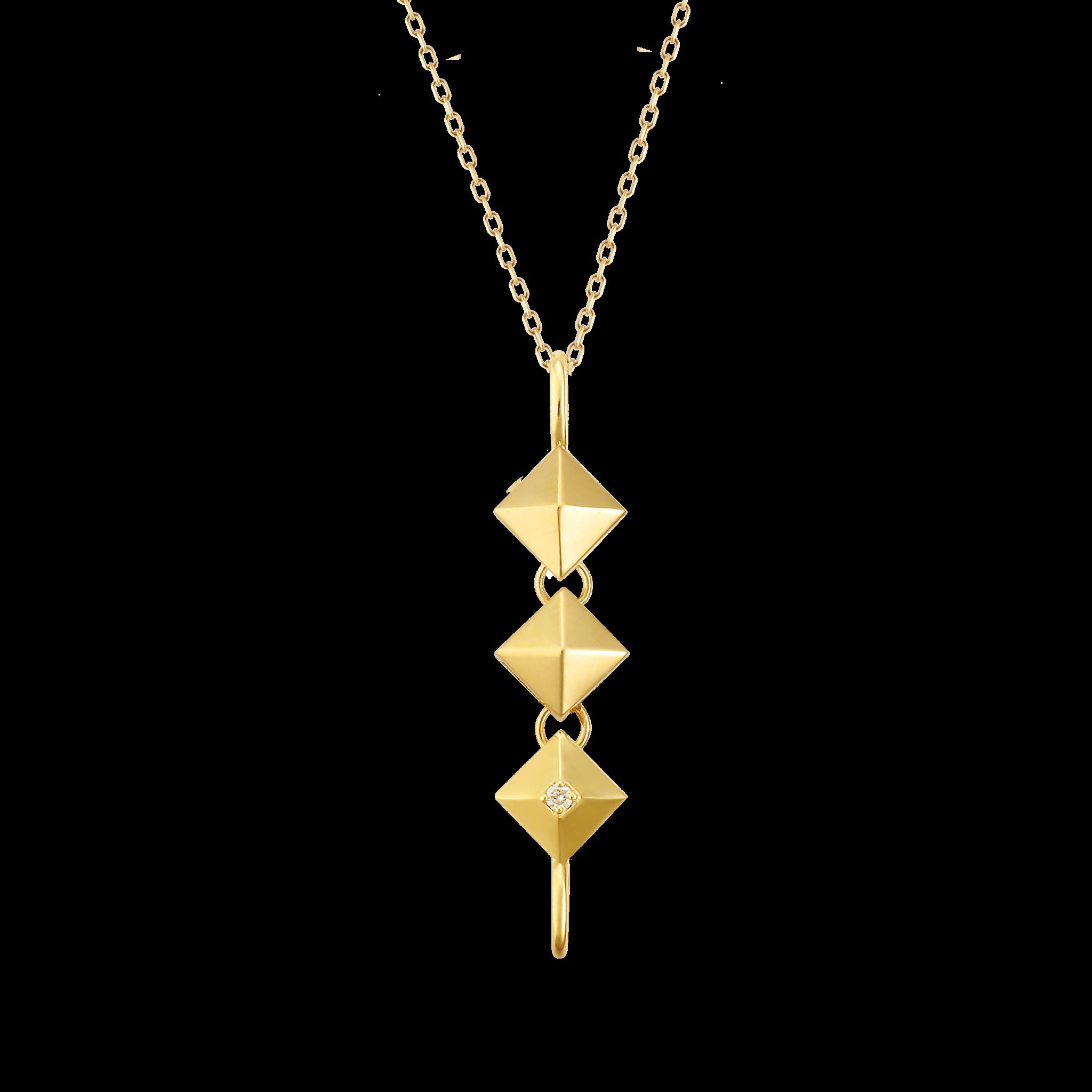 PYRAMIDAL Collection 18K黄金钻石项链 6699