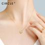 【新品】CIRCLE日本珠宝 18K金钻石项链女吊坠木兰盛绽锁骨链送礼