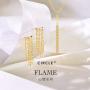 新品 CIRCLE珠宝 18K黄金品牌专属款项链 流苏灵动锁骨链可调节