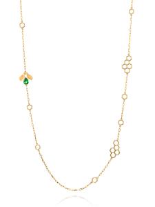 Ruche Collection 18K黄金沙弗莱石长项链 ¥13099