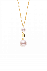 Confetti Collection 18K Two Pearls Necklace  ¥4399