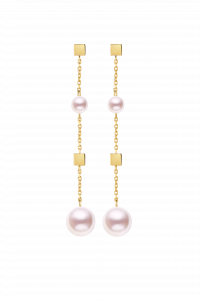 Confetti Collection 18K Two Pearls Earrings ¥4699