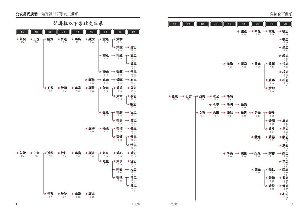 家谱图版式体例05