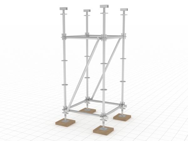 支模架搭设工艺模拟