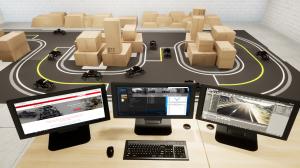 Self-Driving Car Research Studio - 3 monitors
