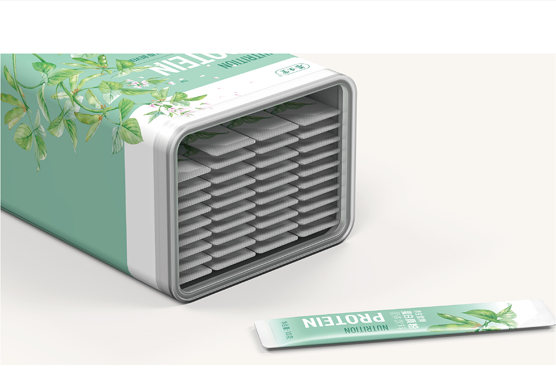 养生堂蛋白质粉包装设计-食品保健品包装设计-杭州达岸品牌策划设计公司