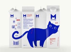 无处不在的蓝猫,乳制品品牌 Milgrad 启用全新LOGO和包装