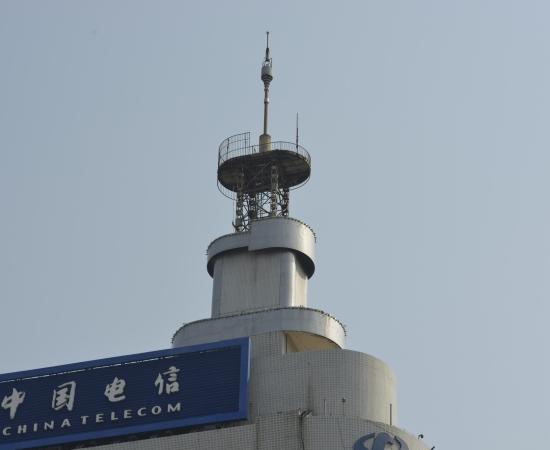 中国电信大厦防雷工程使用DK6-100型限流避雷针