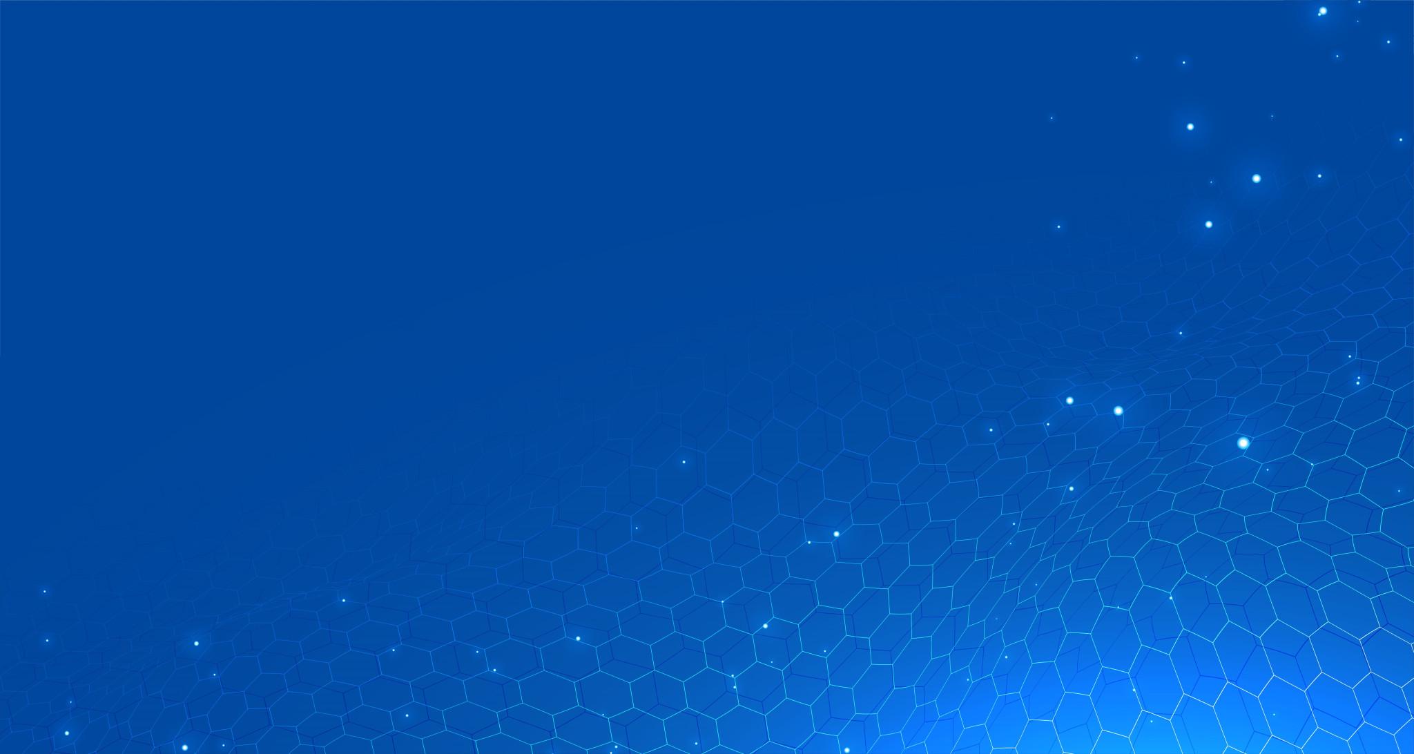 blue technology hexagonal background design