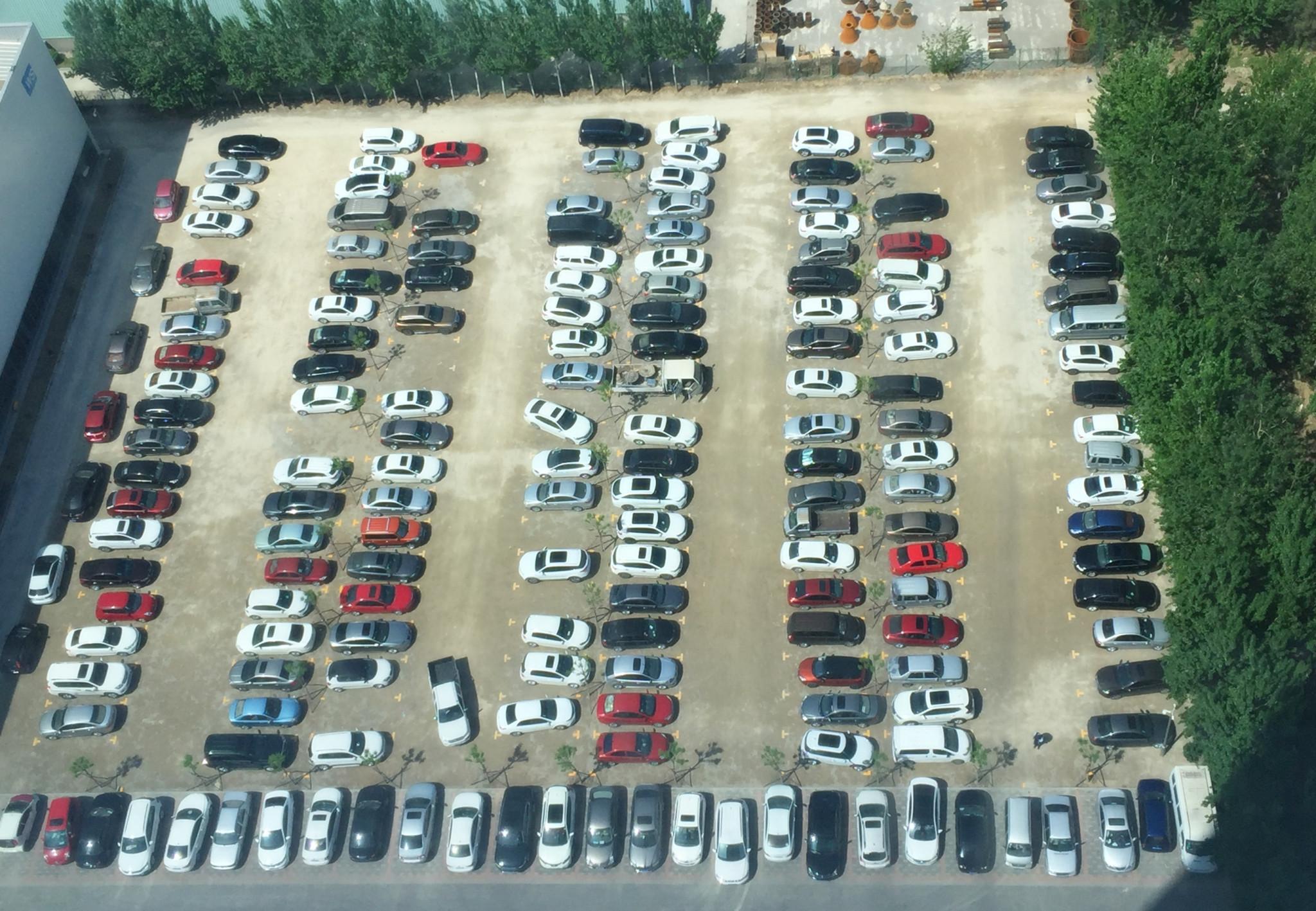 停車場俯瞰圖